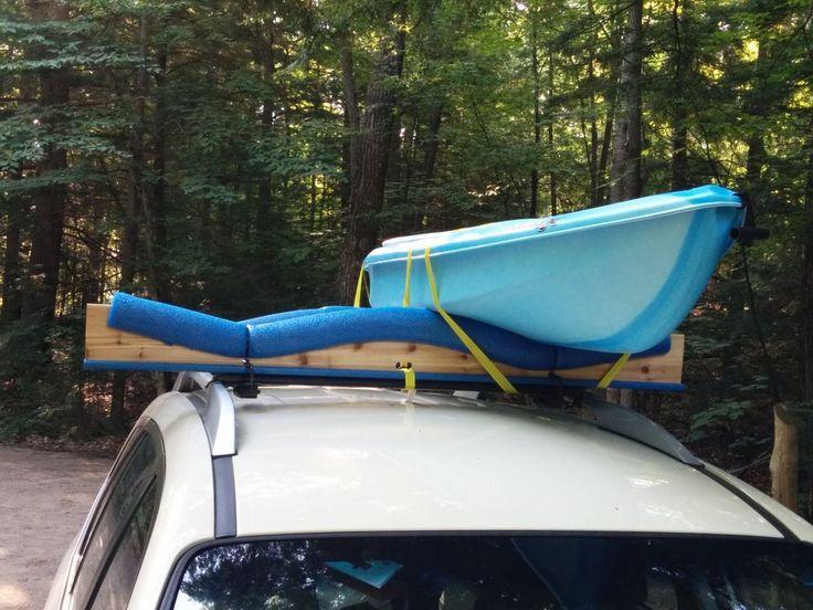 Pool Noodle Kayak Roof Rack