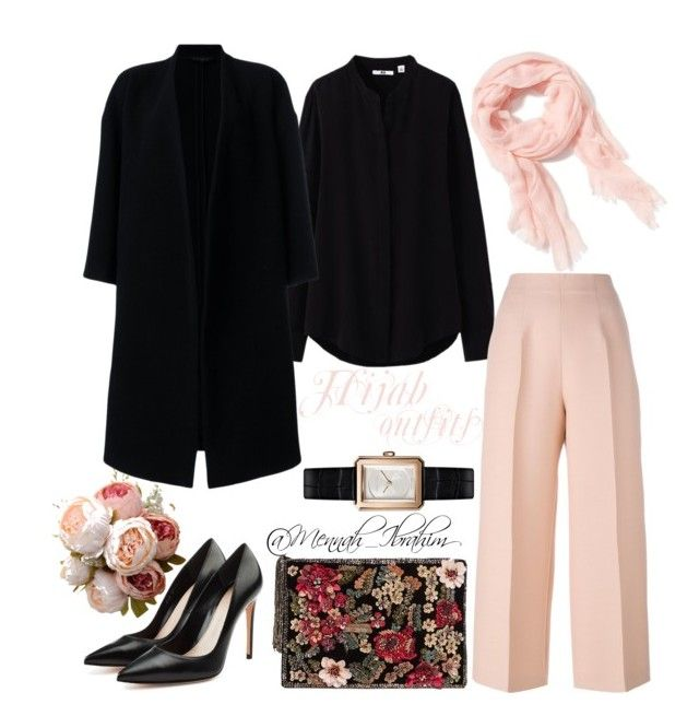 """""""#Hijab_outfits #modesty #Formal #Classic"""" by mennah-ibrahim on Polyvore featuring Uniqlo, Fendi, Ter Et Bantine, Old Navy, Alexander McQueen, MANGO and Chanel"""