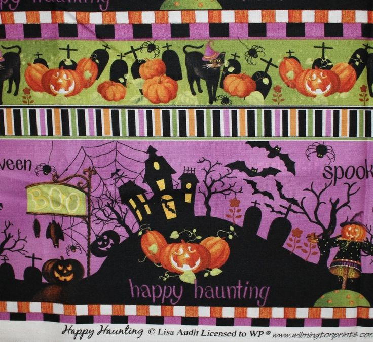 Pin By Storytelling On Happy Fabric: Happy Haunting Lisa Audit Wilmington Prints Halloween