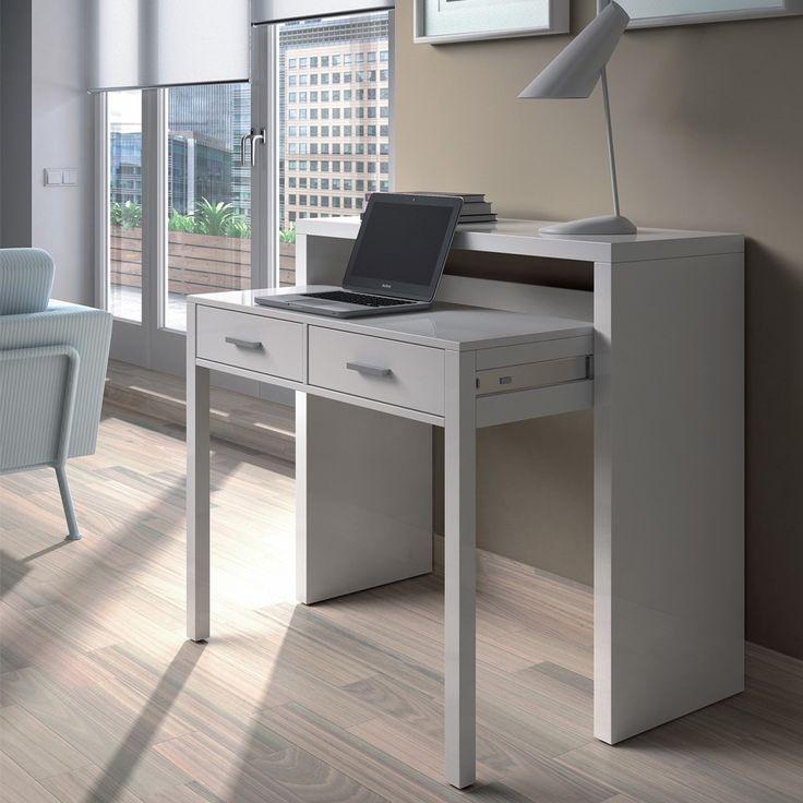 Mobile scrivania scrittoio a scomparsa bianco  004582BO