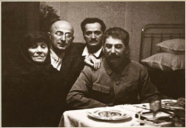 GREAT STALIN - SOVIET UNION. Stalin's mother Ekaterina Dzhugashvili, Lavrentiy Beria, Nicholas Kipshidze (doctor), Joseph Stalin. Tiflis. The USSR. 1935