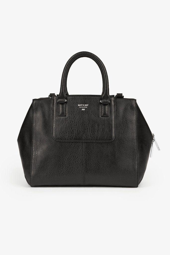 Kite Bag - Matt and Nat - Black #Black #crossbody-bag #kite-bag #vegan-leather #matt-and-nat #handbag #tote #must-have #gift #for-her