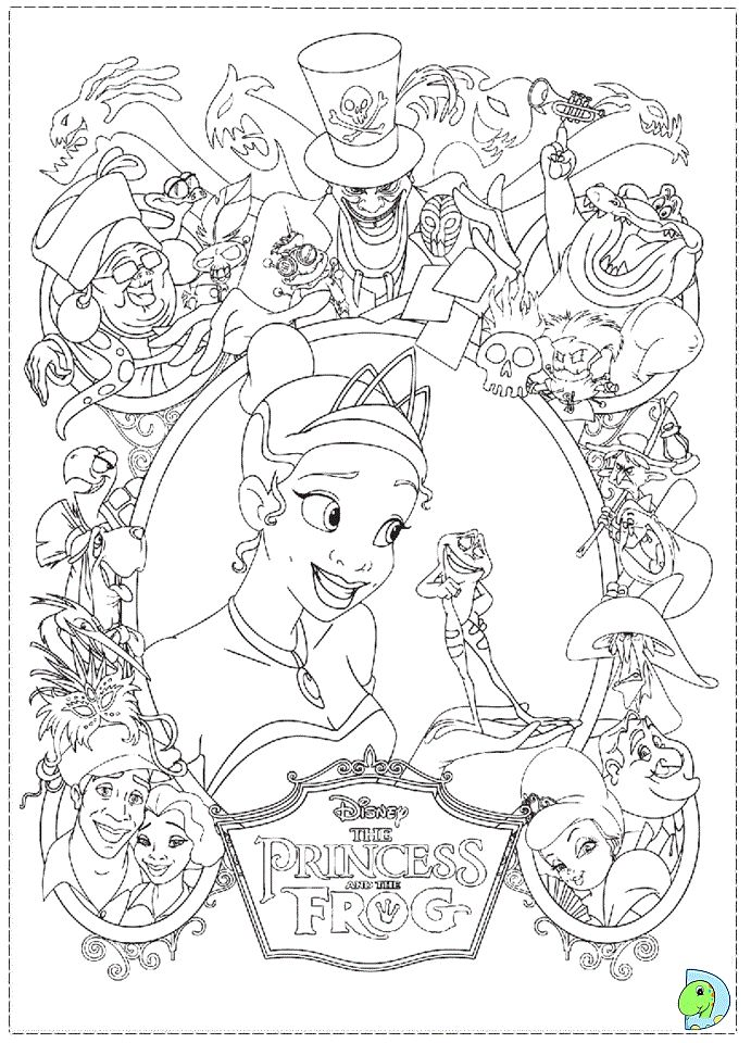 17 best Coloring Pages (The Princess & The Frog) images on Pinterest ...