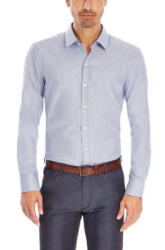 'Robbie' | Slim Fit, Cotton Button Down Shirt, Turquoise