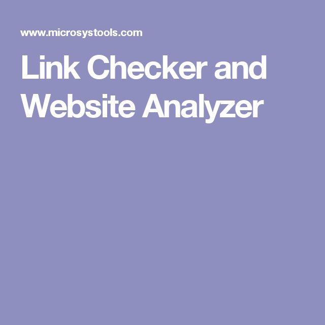 Link Checker and Website Analyzer