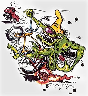 Ed Roth Cartoon | Cool Art Phreek | Bike, Cool art, Skate surf
