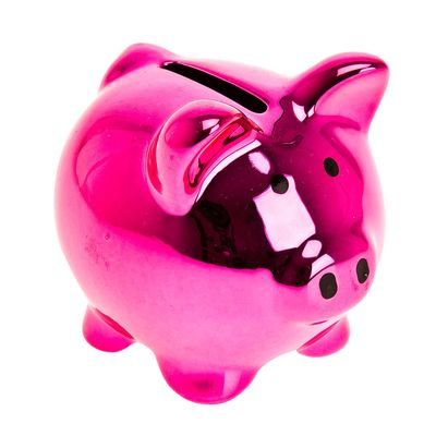 Keep your coins safe, in this modern take on the classic piggy-bank.