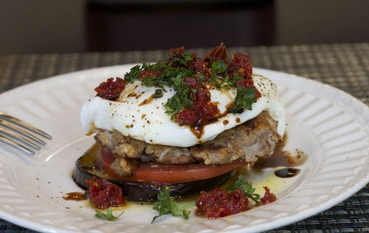 Roasted Eggplant StacksOlive Oil, Roasted Eggplants, Ground Meat, Eggplants Stacked, Coconut Oil, Paleo Diet, Weights Loss, Poached Eggs, Paleo Recipe