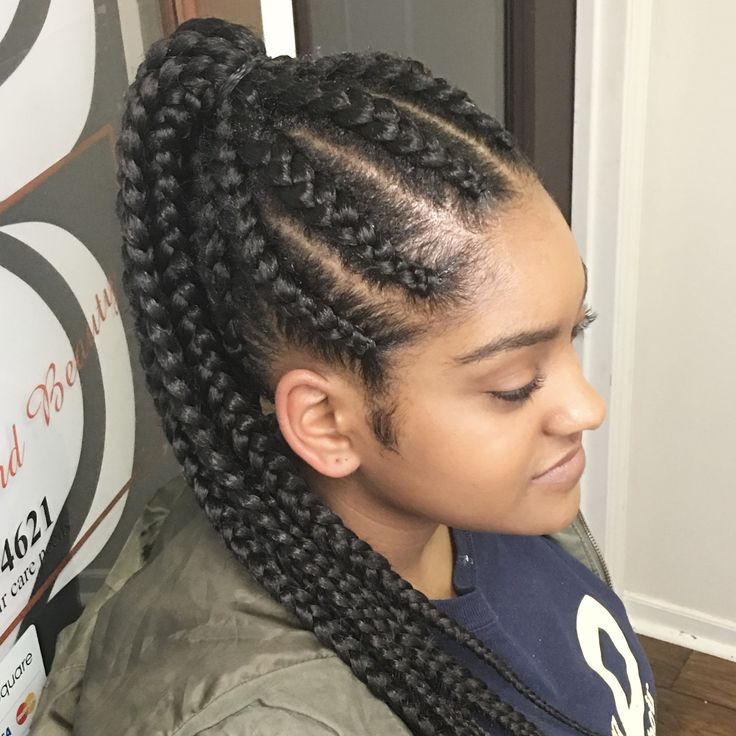 Natural Hair Style Corn Row Ponytail Hair Styles