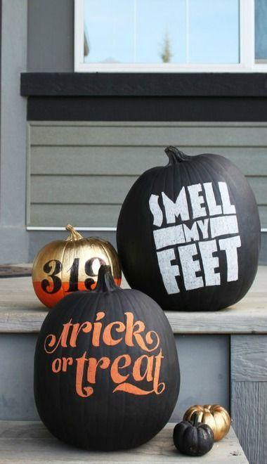 diy typography chalkboard pumpkins   fairgoods
