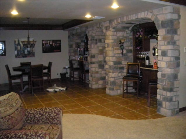 basement wine cellar stone veneer basement club rooms pinterest