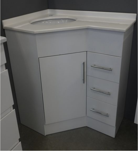 Corner Vanity For Bathroom | Corner Vanity Right Hand Drawers
