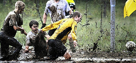 Finland is home to some traditional sporting contest in the world. That´s Swampsoccer!