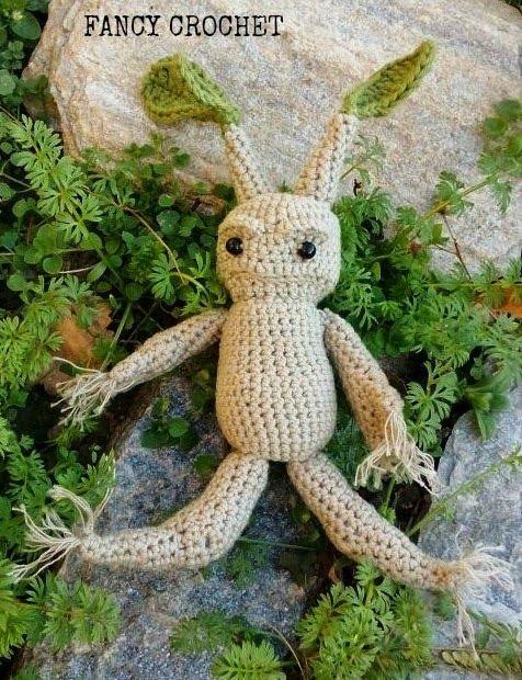 Radice di Mandragora amigurumi -  Mandrake crochet amigurumi