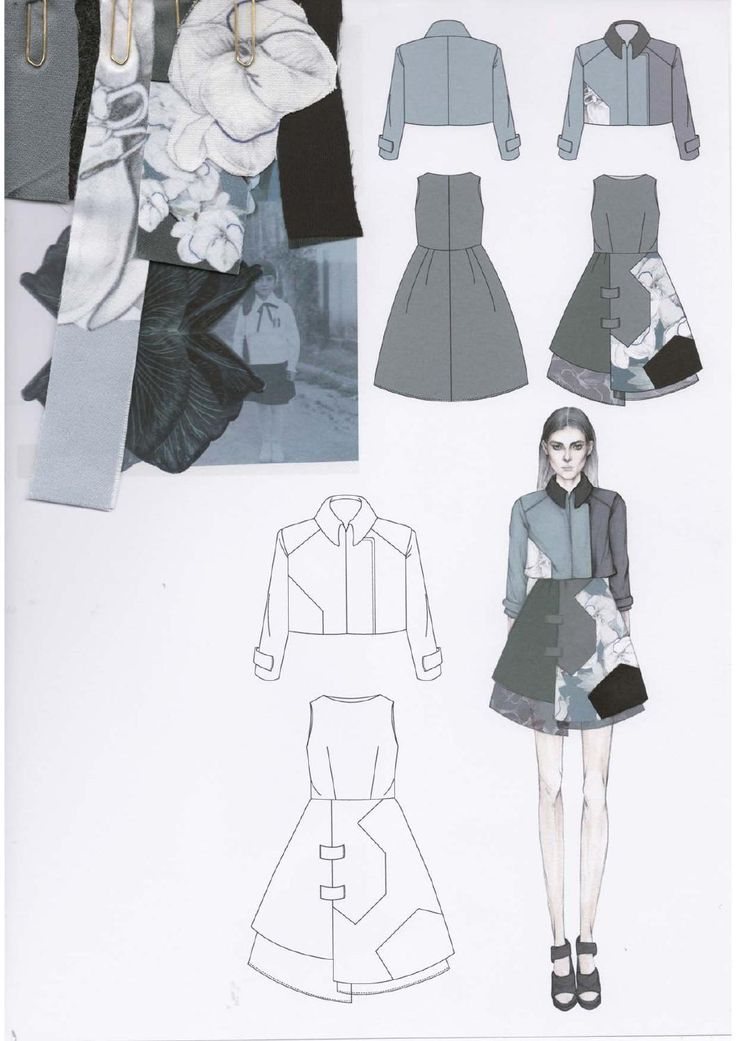 Fashion Sketchbook - fashion design drawings, floral fabrics, collection development; fashion portfolio // Emily-Mei Cross