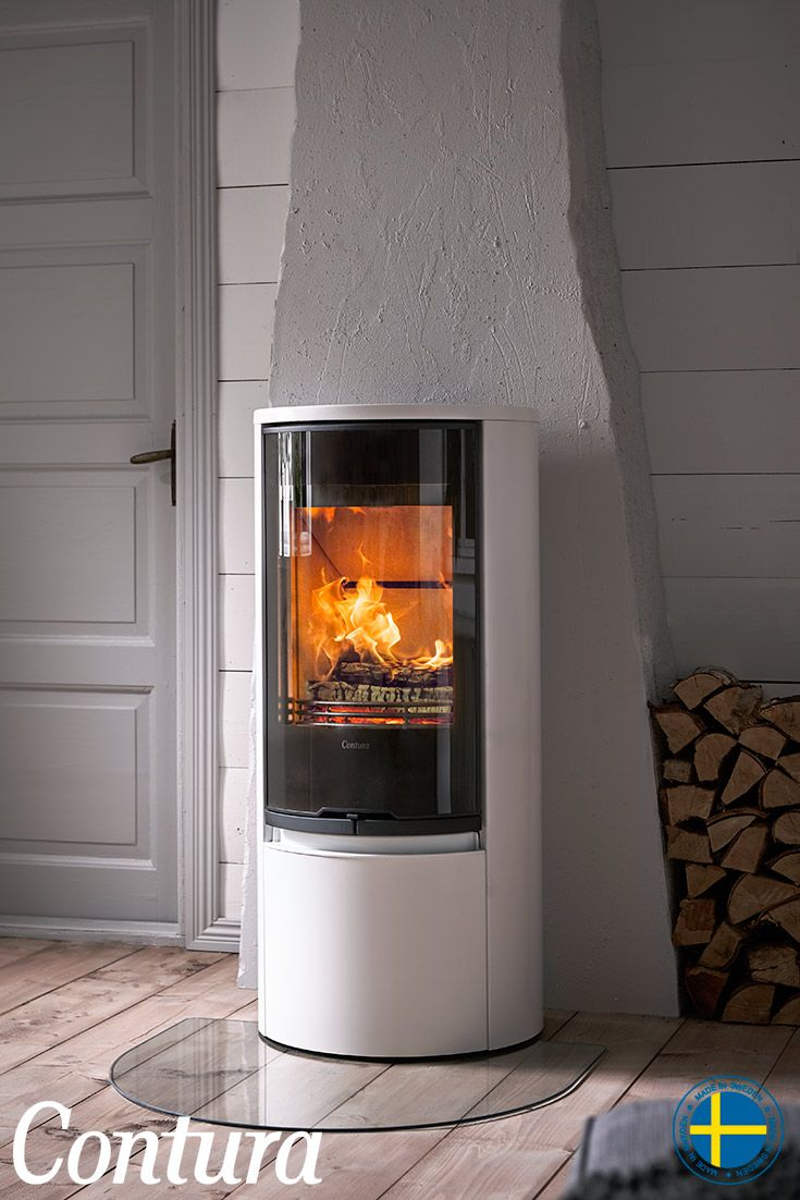 CONTURA 510G Style white, glass door. Popular basic model with new, tough glass door and white exterior.