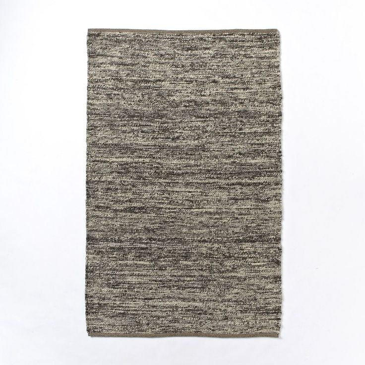 Lovely Sweater Wool Rug   Charcoal Design