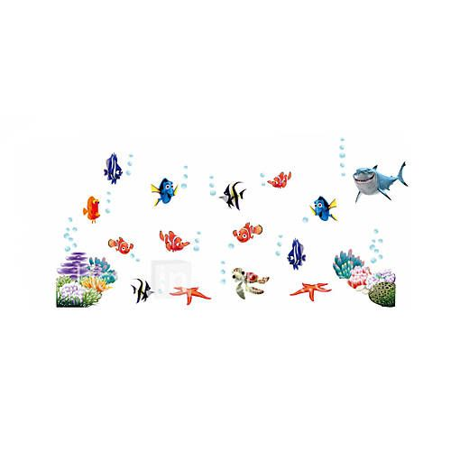 Wall Stickers Wall Decals Style Underwater World Cartoon Bubble Fish PVC Wall Stickers 5268812 2017 – $5.99