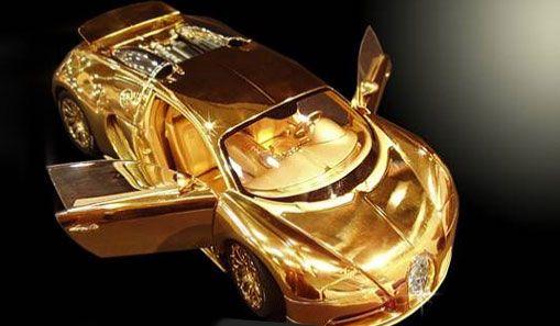Solid Gold Bugatti | Solid Gold and Diamond 2010 Bugatti Veyron is worth over $2 Million