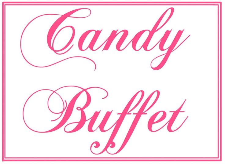 Custom Printable Wedding Candy Buffet Sign. via Etsy ...