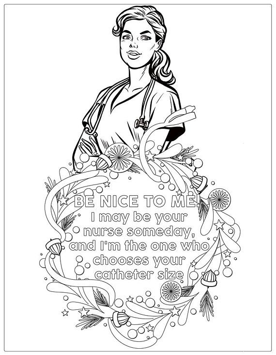Nurse Coloring Book Coloring Books Coloring Pages Adult