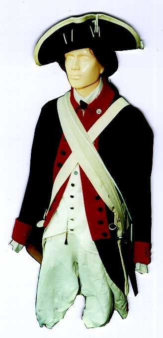 Continental Army uniform from the American Revolutionary War