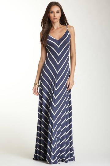 Matty M V-Neck Sleeveless Striped Flared Maxi Dress on HauteLook this looks so comfy!