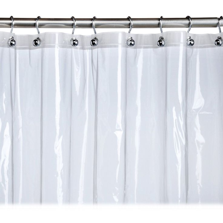 At Home With Meijer Clear Stall Shower Curtain Liner Vinyl