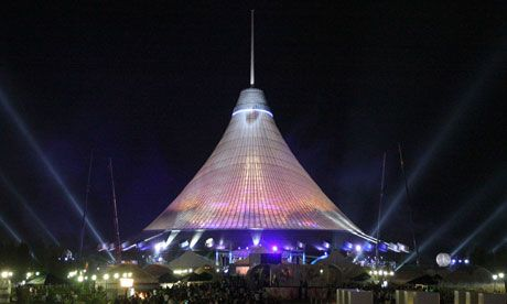Khan Shatyr after its opening in Astana.  Photograph: Reuters