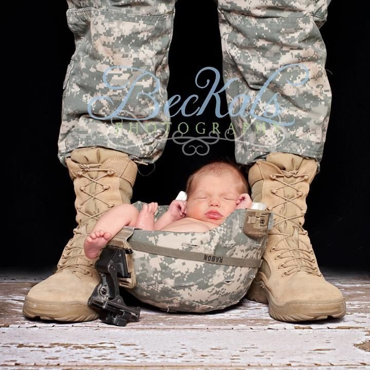 Military newborn baby taken by beckals photography