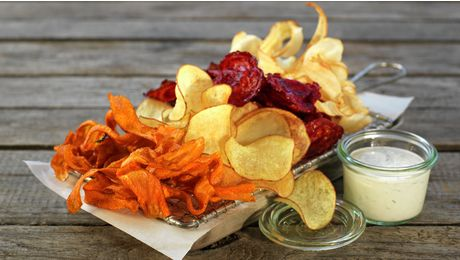 grønnsaks chips