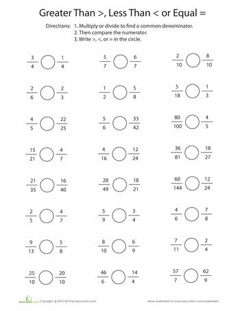 Greater Than Or Less Than Comparing Fractions  Kiddos  Math  Greater Than Or Less Than Comparing Fractions  Kiddos  Math Fractions  Math Worksheets