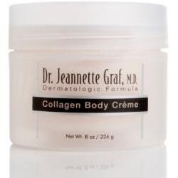 Dr Graf Dermatologic Formula COLLAGEN BODY CREME - 8 Ozs by Dr Graf. $13.99. Helps skin look and feel renewed. Helps optimize skin firmness and elasticity with continued use. Formulated with hydrolyzed collagen and hydrolyzed elastin.  Enriched formula helps lock in moisture to body skin.  Ideal for dry areas such as elbows and knees. Save 43% Off!