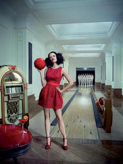 #EvaGreen from #SinCity and Casion Royale is starring in #Campari 2015 Calendar. Some of the photos were taken at the Corinthia Hotel Budapest.