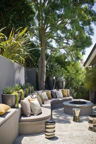 Backyard lounge area