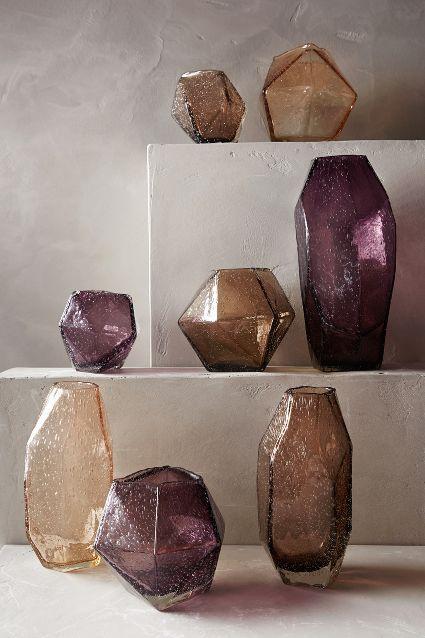 Faceted Gem Vase - Anthropologie