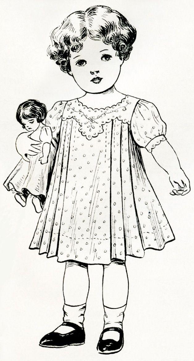 From @Gail Regan Truax://olddesignshop.com/2012/05/free-digital-image-little-girl-holding-a-doll/
