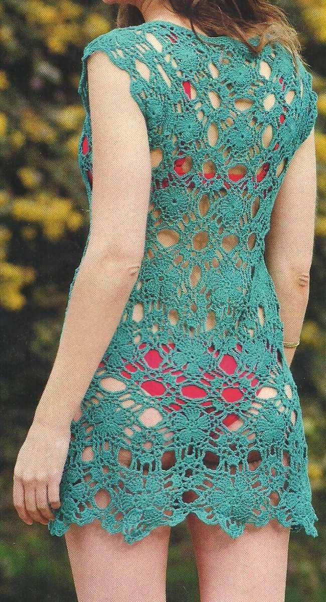 Tejidos Artesanales A Crochet Vestido De Verano Playa