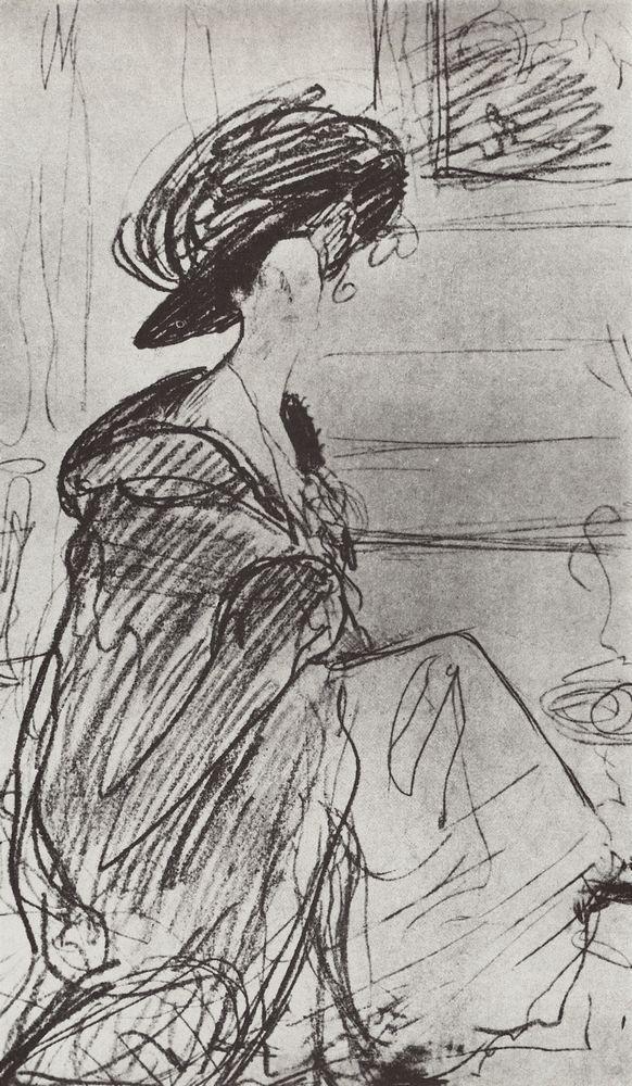 """Portrait of a princess, Olga Orlova"", 1910, Valentin Serov"