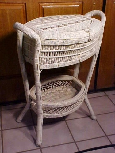 Fabulous Antique Victorian Wicker Floor Sewing Basket Box Chest RARE | eBay  US $625.00