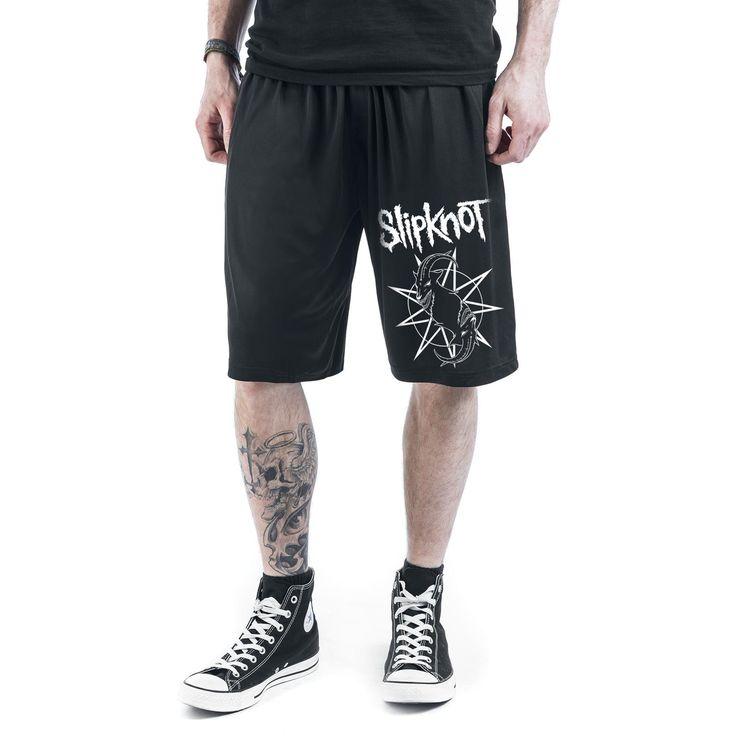 "Pantaloncini neri ""Goat Star Logo"" degli #Slipknot."