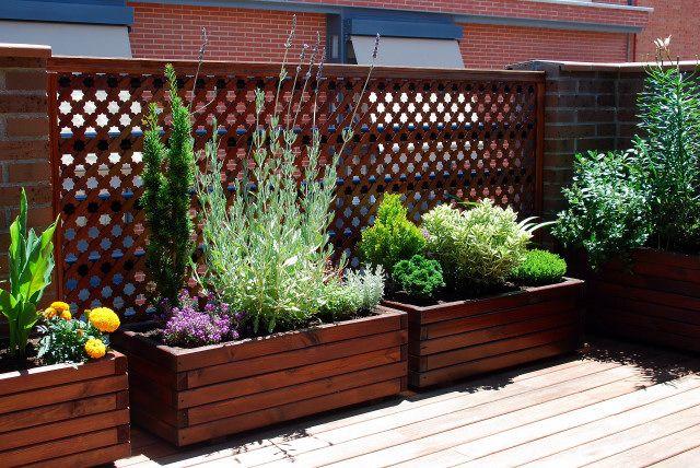 Maceteros de madera decoraci n pinterest - Maceteros para balcones ...