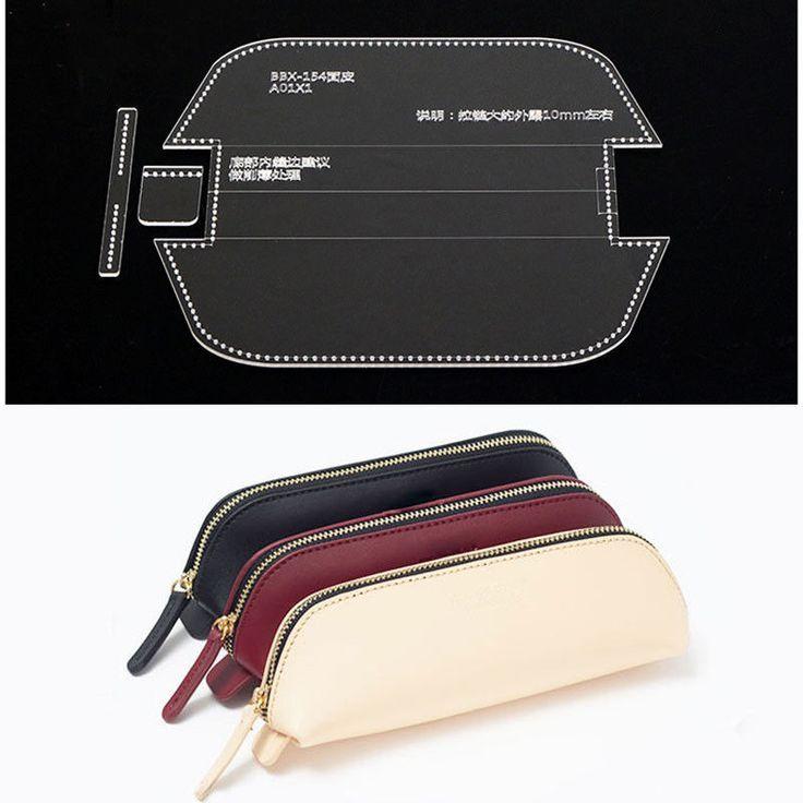 Acryl-Stift-Etui Bleistiftbeutel Vorlage Leder Handwerk Muster Modell Schablone … – Edith