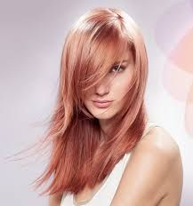 Image result for rose gold highlights for redheads