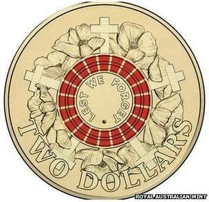 "Australian $2 ""Red Poppy"" coin"