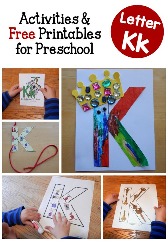 Letter K activities for preschool