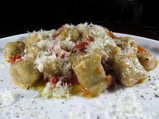 Le mie ricette - Gnocchi di patate e castagne, con burro al profumo di bosco e pomodori Torpedini