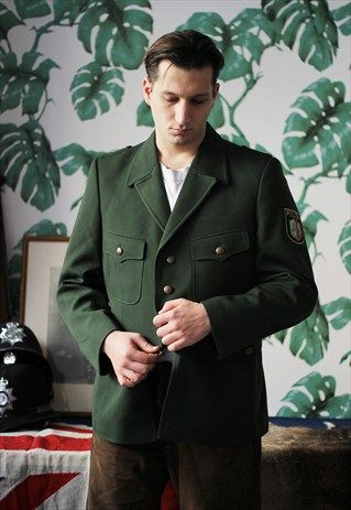 Regimental by Asos German Police jacket/military style blazer.