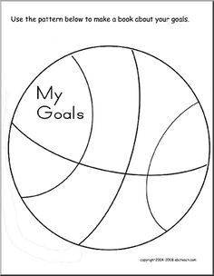 Goal Setting booklet with a fun basketball theme