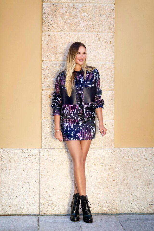 Take on Thursday in this printed Versace look, perfectly styled by Nina Suess. Shop the look here: http://goo.gl/G3ll8z #7D7D